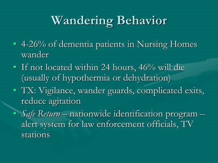 Wandering Behavior