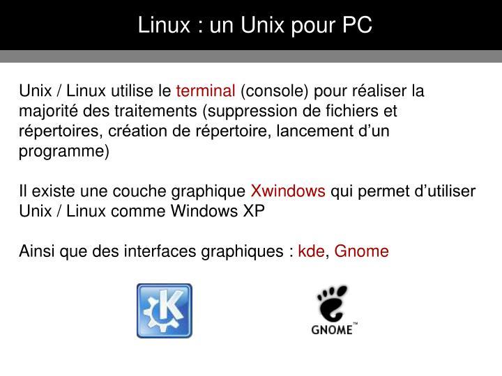 Linux : un Unix pour PC