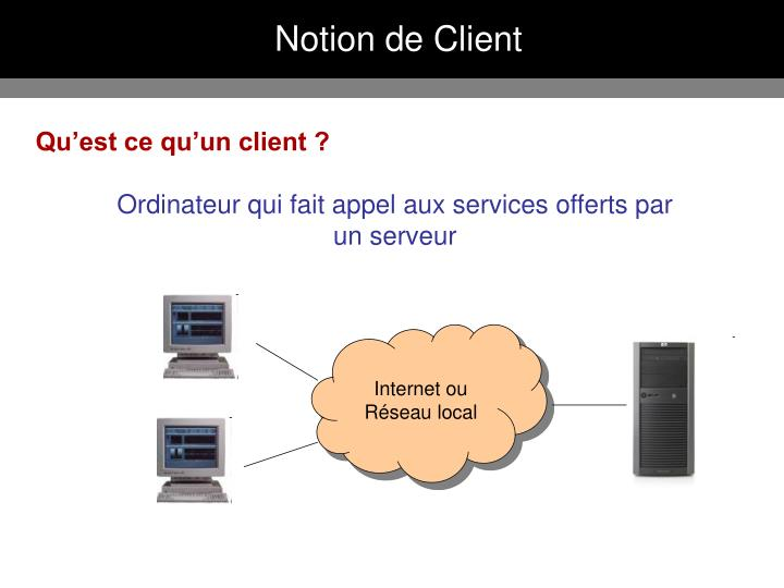 Notion de Client