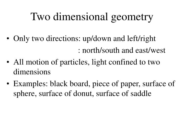 Two dimensional geometry