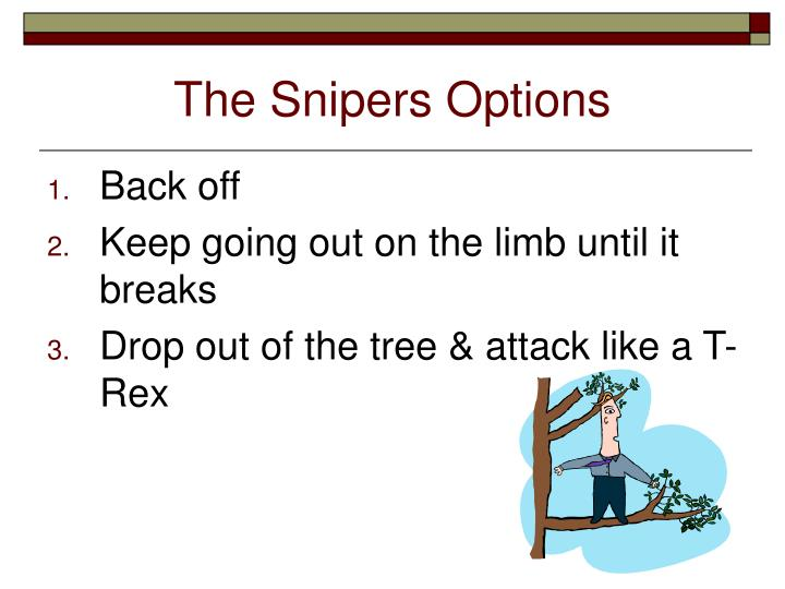 The Snipers Options