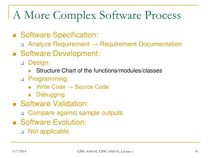 A More Complex Software Process