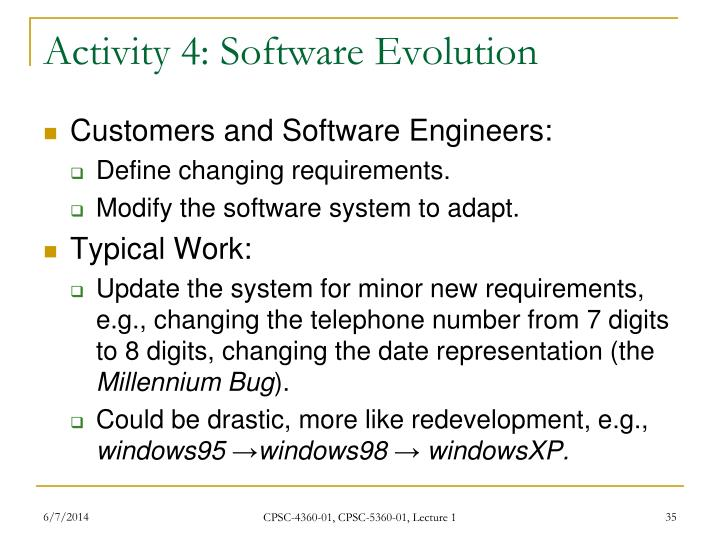 Activity 4: Software Evolution