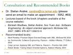 consultation and recommended books