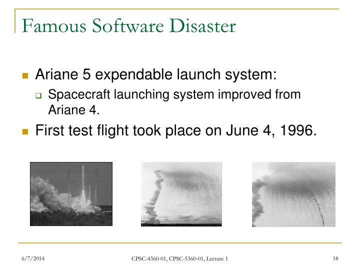 Famous Software Disaster