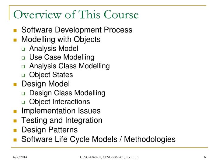 Overview of This Course
