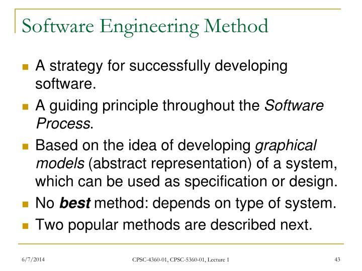 Software Engineering Method