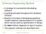 software engineering method