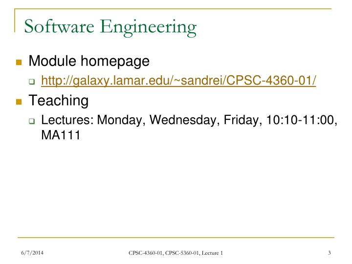 Software engineering1