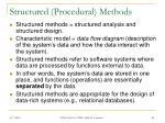 structured procedural methods
