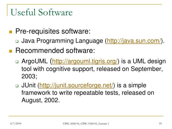 Useful Software
