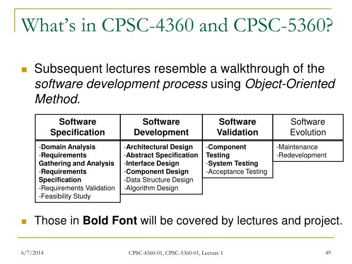 What's in CPSC-4360 and CPSC-5360?