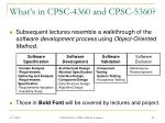 what s in cpsc 4360 and cpsc 5360