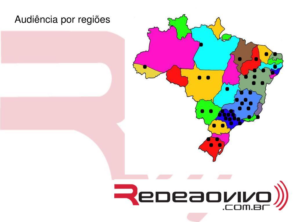 Audiência por regiões