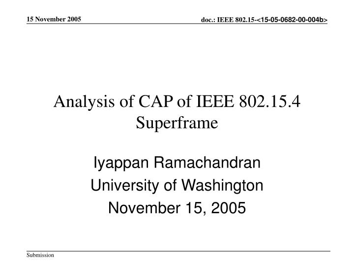 Analysis of cap of ieee 802 15 4 superframe