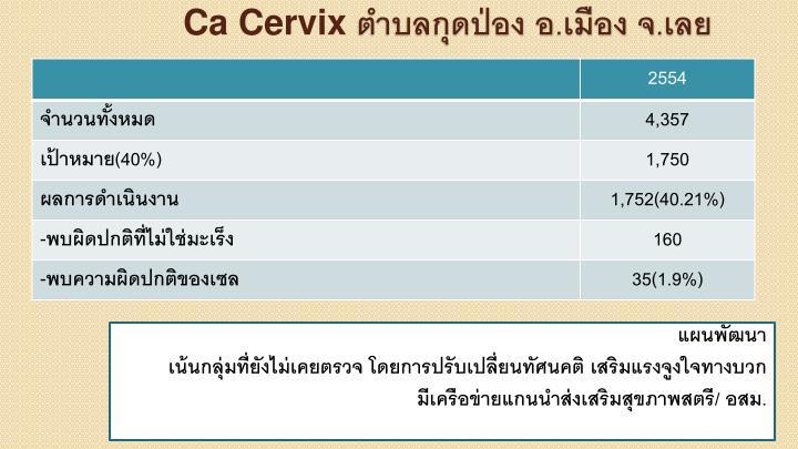 Ca Cervix