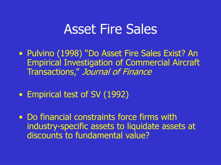 Asset Fire Sales