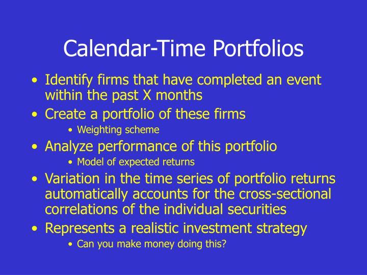Calendar-Time Portfolios