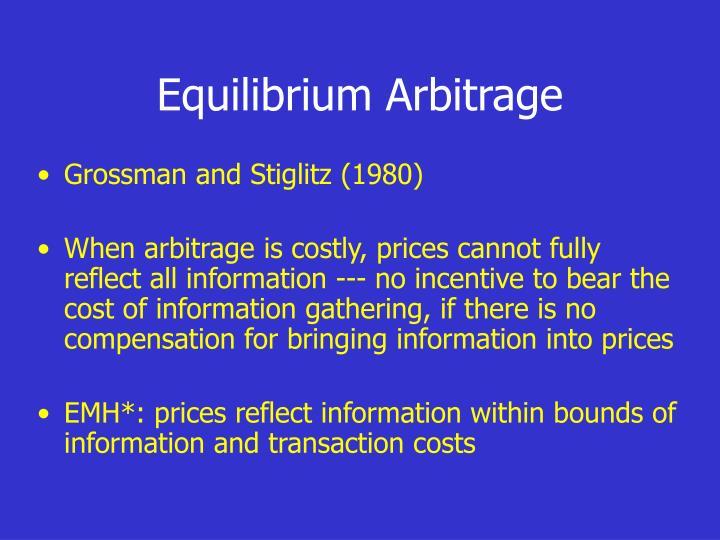 Equilibrium Arbitrage