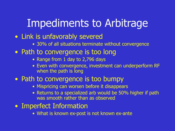 Impediments to Arbitrage