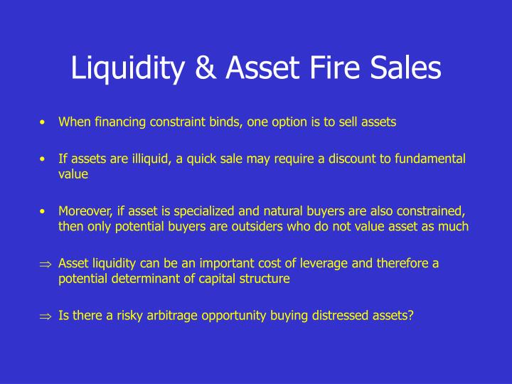 Liquidity & Asset Fire Sales