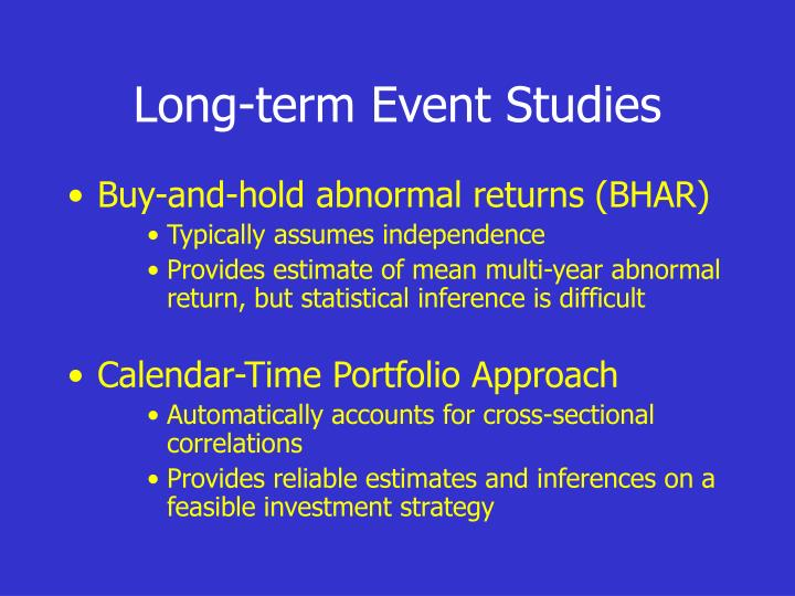 Long-term Event Studies