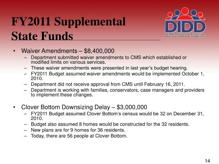 FY2011 Supplemental