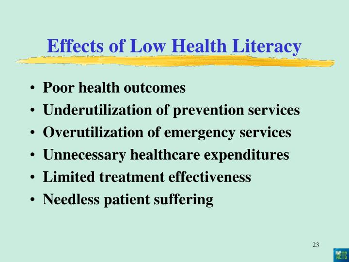 Effects of Low Health Literacy