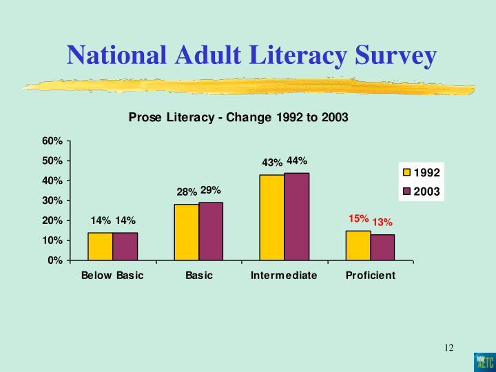 National Adult Literacy Survey