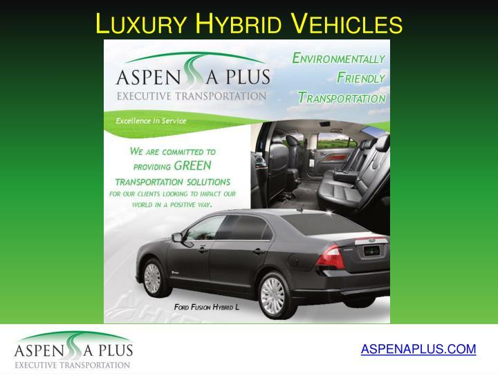 Luxury Hybrid Vehicles
