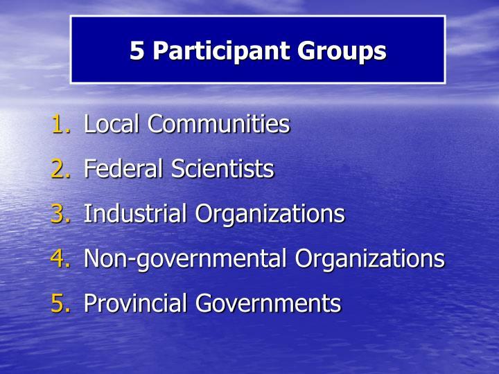 5 Participant Groups