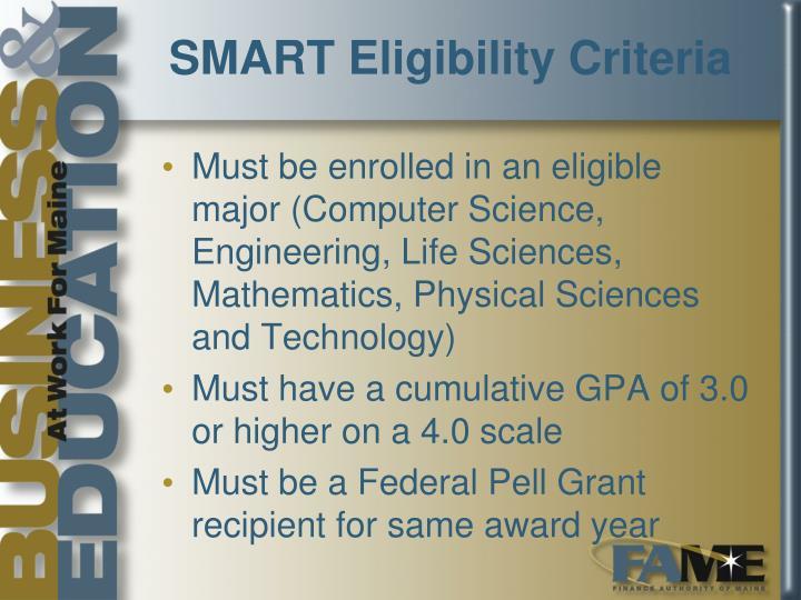 SMART Eligibility Criteria