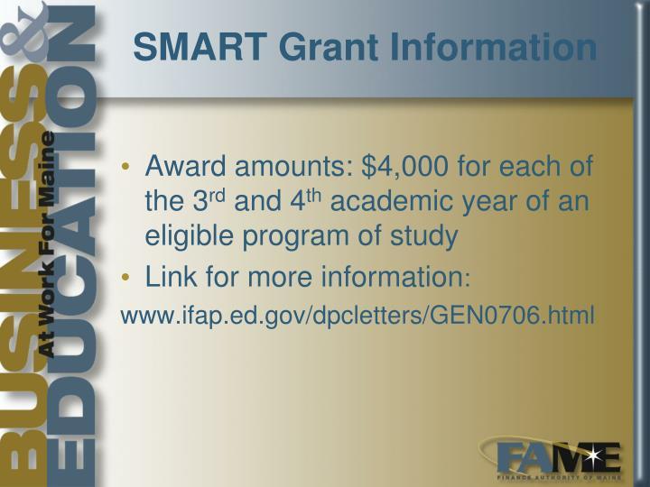 SMART Grant Information
