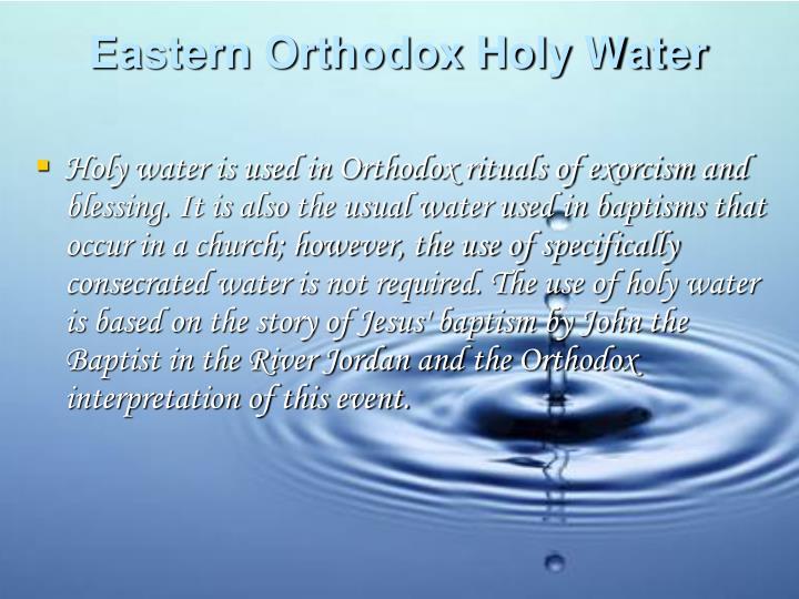 Eastern Orthodox Holy Water