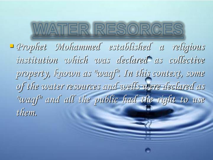WATER RESORCES