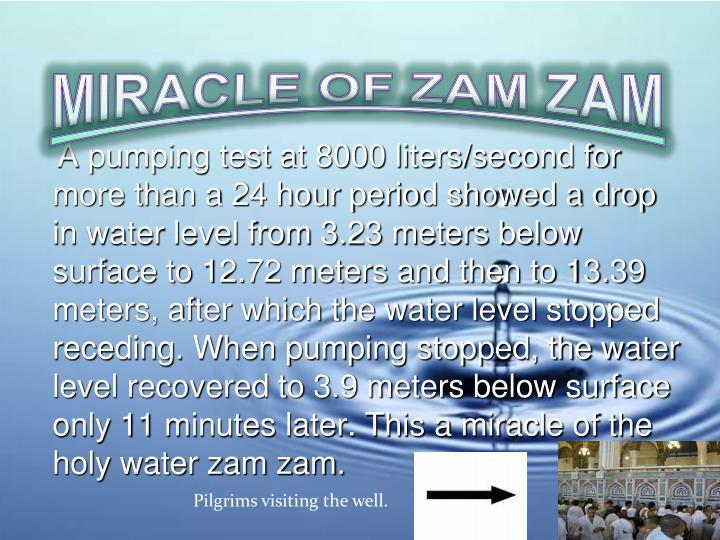 MIRACLE OF ZAM ZAM