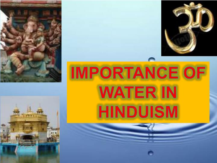 IMPORTANCE OF WATER IN HINDUISM