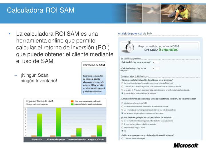 Calculadora ROI SAM