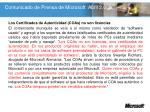 comunicado de prensa de microsoft abril 2 009