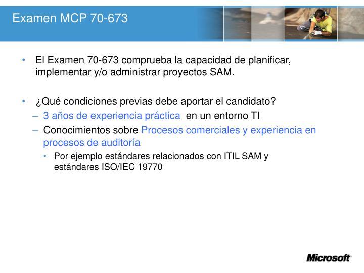 Examen MCP 70-673