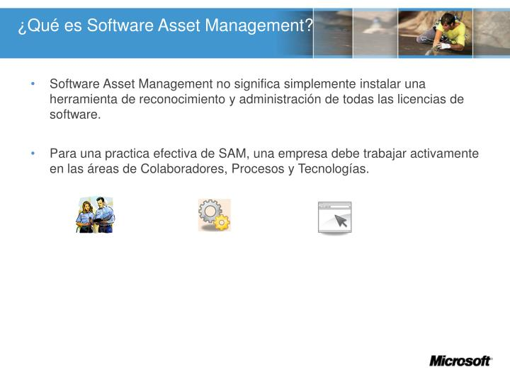 ¿Qué es Software Asset Management?