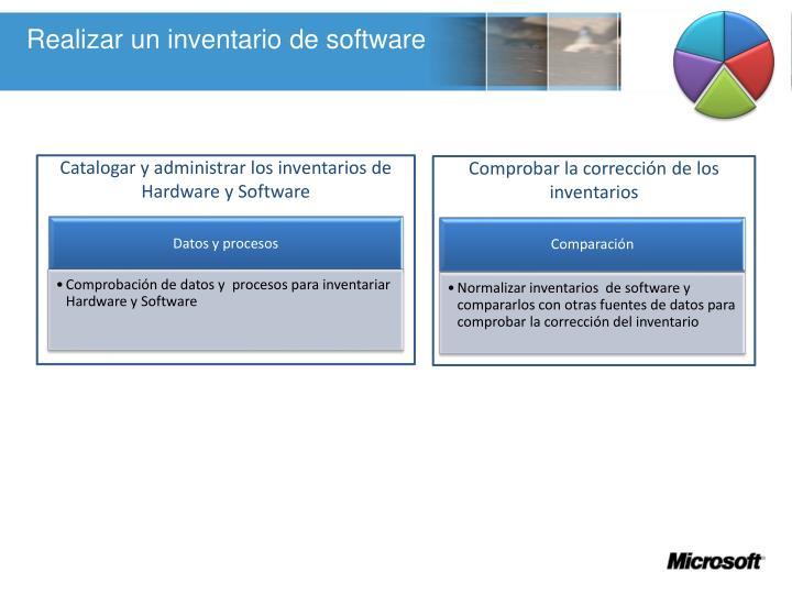 Realizar un inventario de software