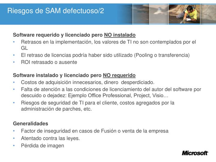 Riesgos de SAM defectuoso/2