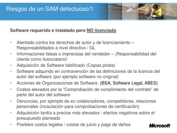 Riesgos de un SAM defectuoso/1