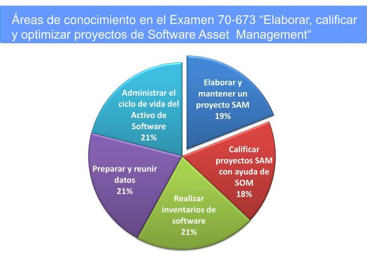 """Áreas de conocimiento en el Examen 70-673 """"Elaborar, calificar y optimizar proyectos de Software Asset  Management"""""""