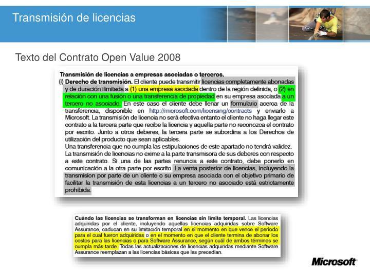 Transmisión de licencias