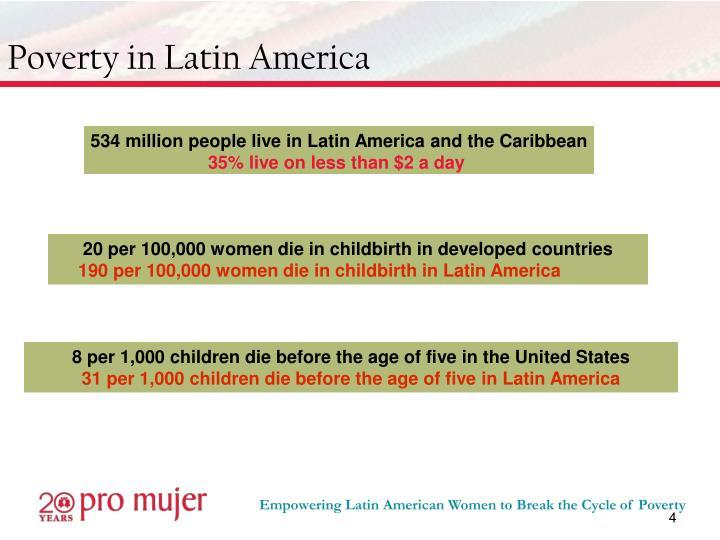 Poverty in Latin America