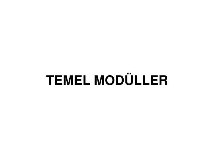 TEMEL MODÜLLER