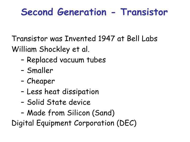 Second Generation - Transistor