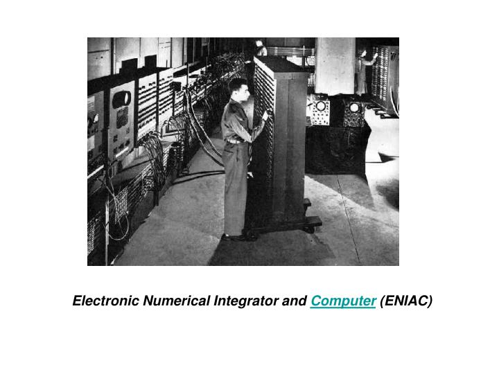 Electronic Numerical Integrator and